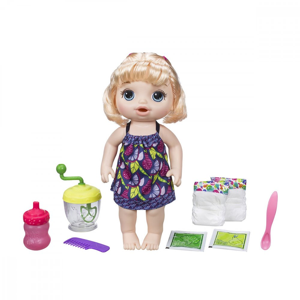 Boneca Baby Alive Papinha Divertida 35,5cm Loira unidade Hasbro  UN