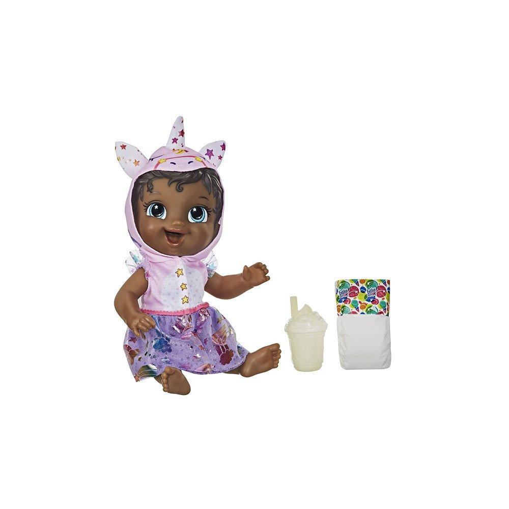 Boneca Baby Alive Tinycorn Unicórnio Roxa e Rosa unidade Hasbro  UN