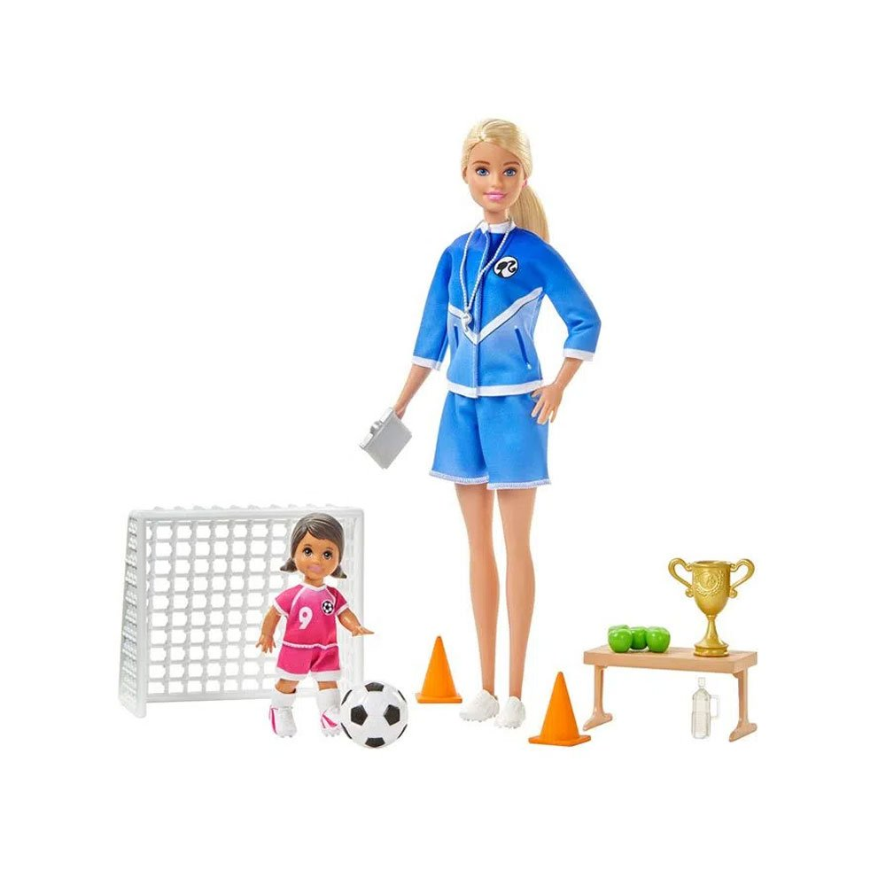 Boneca Barbie Careers Professora de Futebol Rosa unidade Mattel  UN