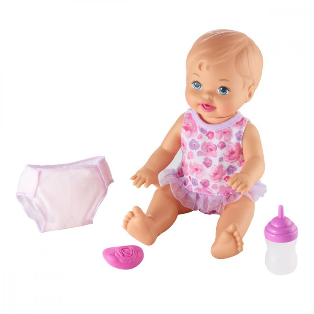 Boneca Little Mommy Bebê faz Xixi Deluxe 36cm FKD02  unidade Mattel  UN