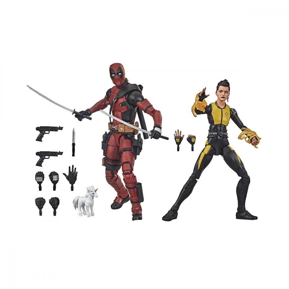 Boneco Marvel Legends Series Deadpool e Negasonic Teenage Warhead unidade Hasbro  UN