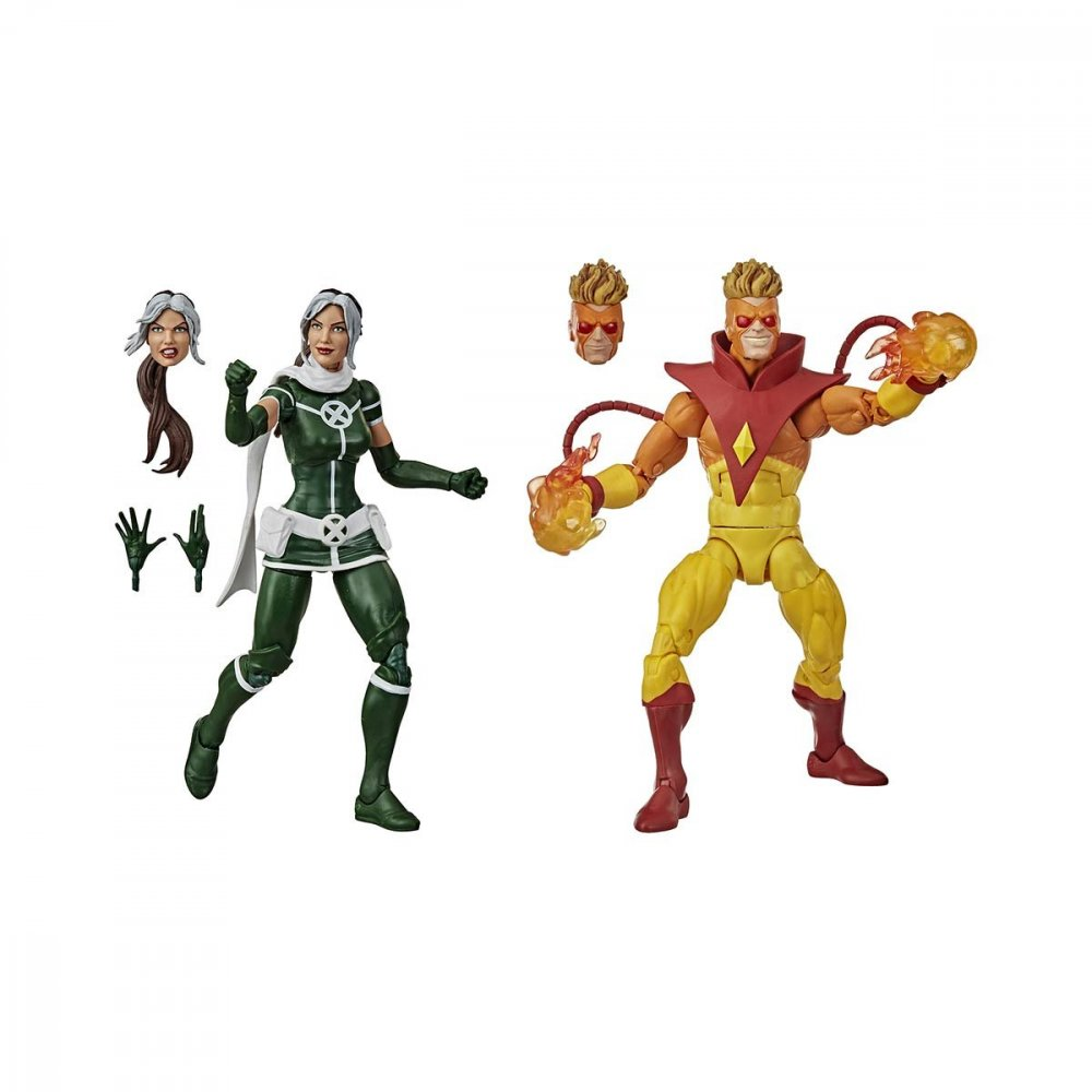 Boneco Marvel Legends Series Vampira e Pyro unidade Hasbro  UN