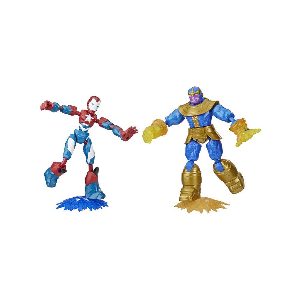 Boneco Mavel Vingadores Thanos e Iron Man Azul, Vermelho e Amarelo unidade Hasbro  UN