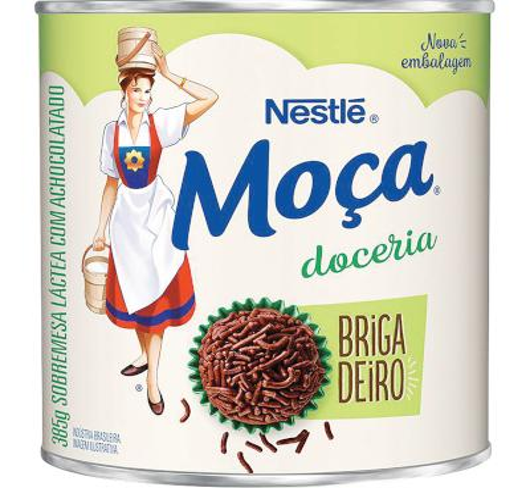 Brigadeiro pronto para consumo 385g Nestlé/Moça lata UN
