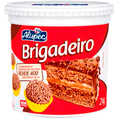 Brigadeiro pronto 2kg Alispec pote POTE