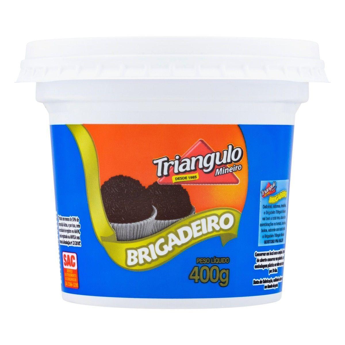 Brigadeiro pronto 400g Triângulo Mineiro pote POTE
