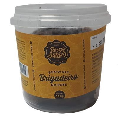 Brownie de brigadeiro (com colher e guardanapo) 110g Desejo Sabor pote UN