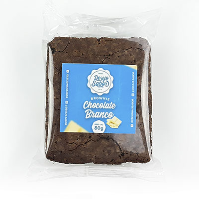 Brownie de chocolate branco 80g Desejo Sabor  UN