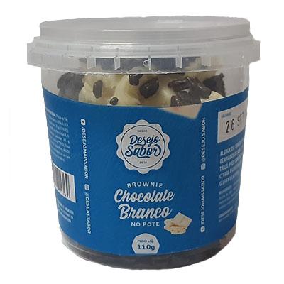 Brownie de chocolate branco (com colher e guardanapo) 110g Desejo Sabor pote UN