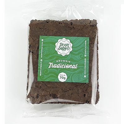 Brownie tradicional 70g Desejo Sabor  UN