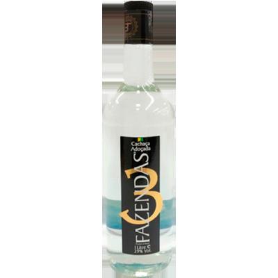 Cachaça  965ml 3 Fazendas garrafa UN