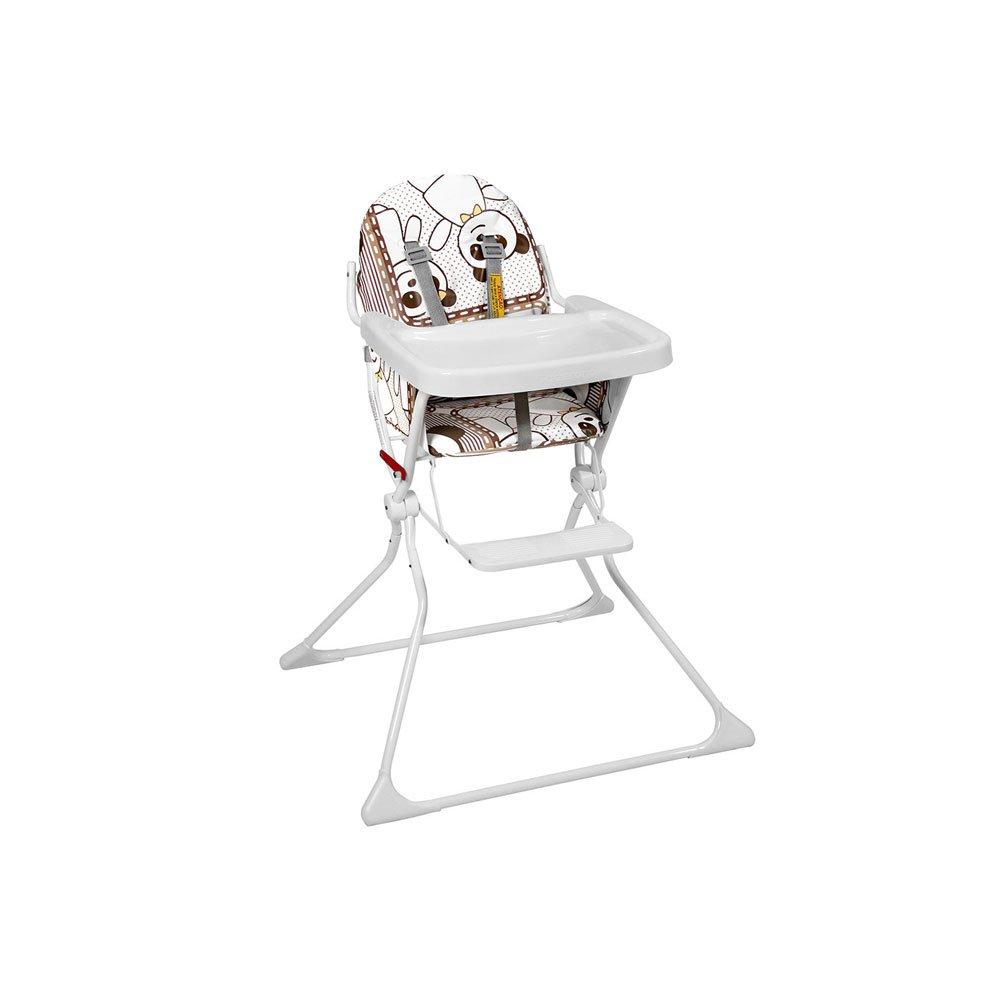 Cadeira de Alimentação Portátil Standard II Panda 5016PA até 15Kg Branca e Marron unidade Galzerano  UN