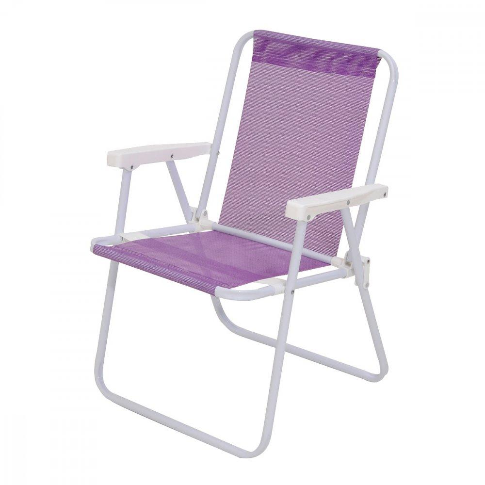 Cadeira de Praia Dobrável em Alumínio 1 Nível Sannet Violeta unidade Mor  UN