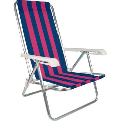 Cadeira de Praia Reclinável em Alumínio 4 Posições unidade Mor  UN