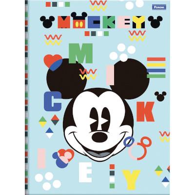 Caderno brochura 1/4 Mickey 80 folhas Foroni  UN