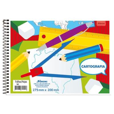 Caderno de Desenho e cartografia flexível sem seda 96 folhas Foroni  UN
