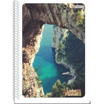 Caderno Espiral capa dura 96 folhas Kajoma 1 matéria UN