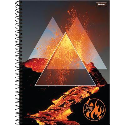 Caderno Espiral capa dura 4 Elementos 96 folhas Foroni  UN