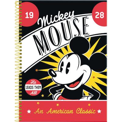 Caderno Espiral Capa Dura Mickey 80 folhas Foroni  UN