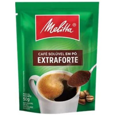 Café solúvel extra forte 50g Melitta pacote PCT