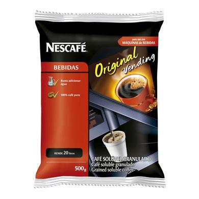 Café solúvel original 500g Nescafé/Vending pacote PCT