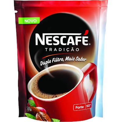 Café solúvel tradição 50g Nescafé/Tradição pacote PCT