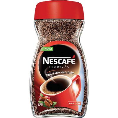 Café solúvel tradição 230g Nescafé/Matinal vidro UN