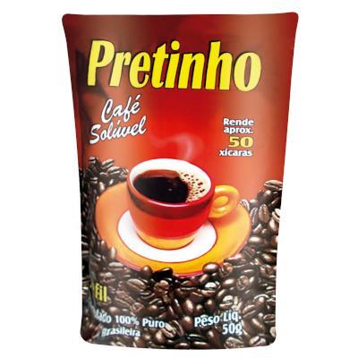 Café Solúvel Tradicional 50g Pretinho sachê UN