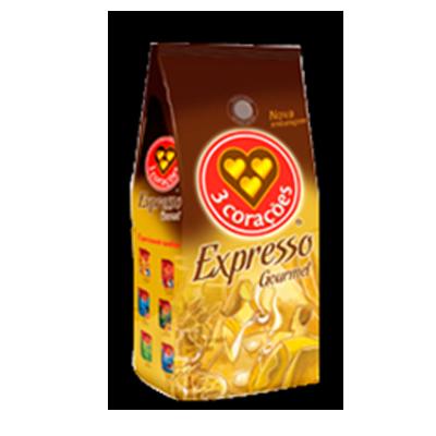 Café torrado e moído expresso gourmet (em pó) 1kg 3 Corações almofada UN