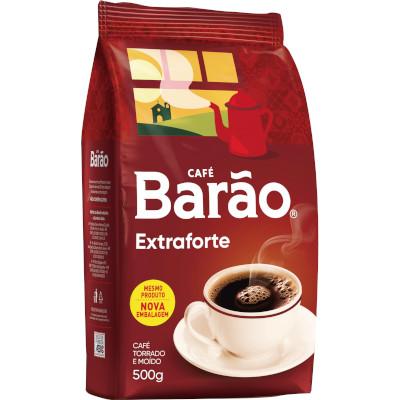 Café Torrado e Moído Extra Forte (em pó) 500g Barão pouch PCT