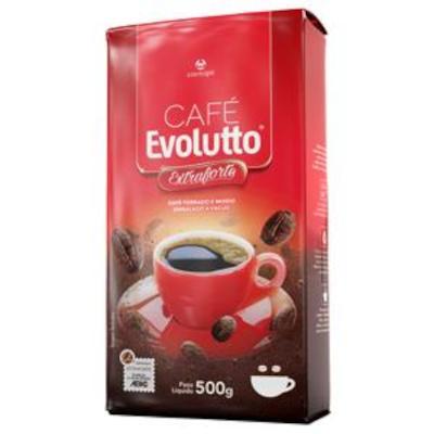 Café torrado e moído extra forte (em pó) 500g Evolutto vácuo UN