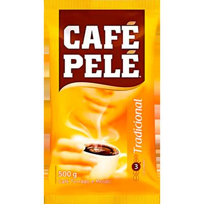 Café torrado e moído tradicional (em pó) 500g Café Pelé almofada UN