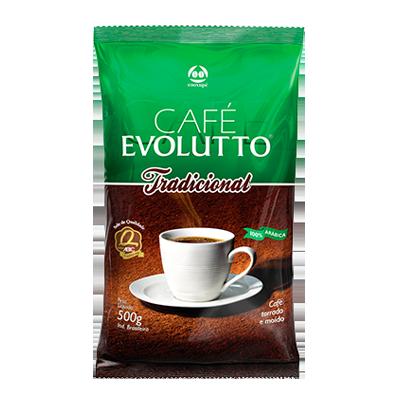 Café torrado e moído tradicional (em pó) 500g Evolutto almofada UN