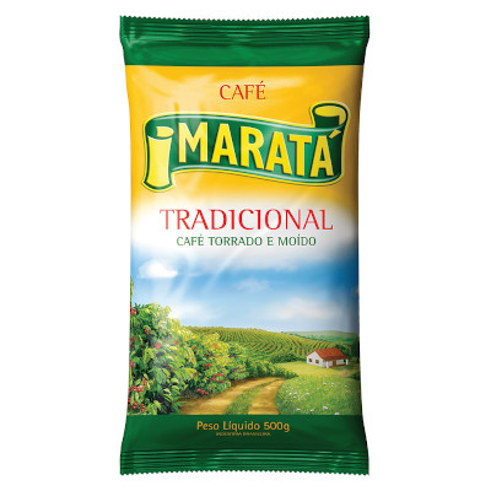 Café torrado e moído tradicional (em pó) 500g Maratá almofada UN