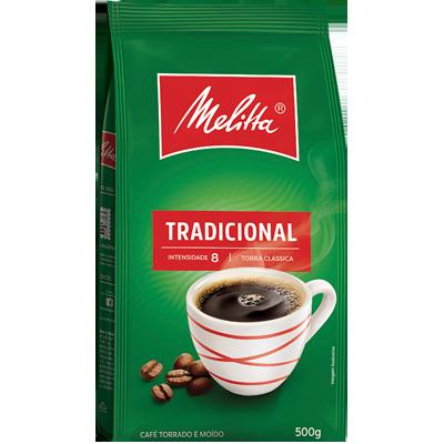 Café Torrado e Moído Tradicional (em pó) 500g Melitta Pouch UN