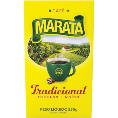 Café Torrado e Moído Tradicional (em pó) 250g Maratá vácuo UN