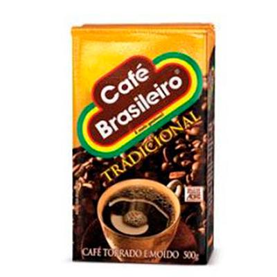 Café torrado e moído tradicional (em pó) 500g Brasileiro vácuo UN
