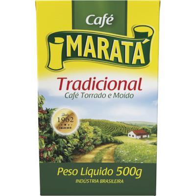 Café Torrado e Moído Tradicional (em pó) 500g Maratá vácuo UN