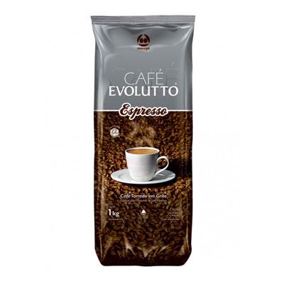 Café torrado em grãos expresso 1kg Evolutto almofada UN