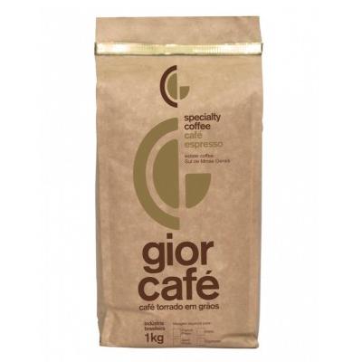 Café torrado em grãos gourmet 1kg Gior Café almofada UN