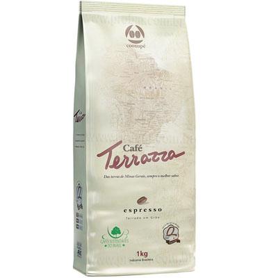 Café torrado em grãos gourmet 1kg Terrazza almofada UN