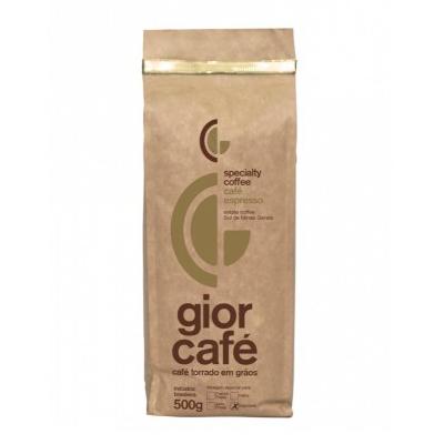 Café torrado em grãos gourmet 500g Gior Café almofada UN