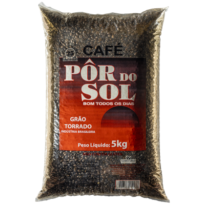 Café torrado em grãos 5kg Pôr do Sol pacote PCT