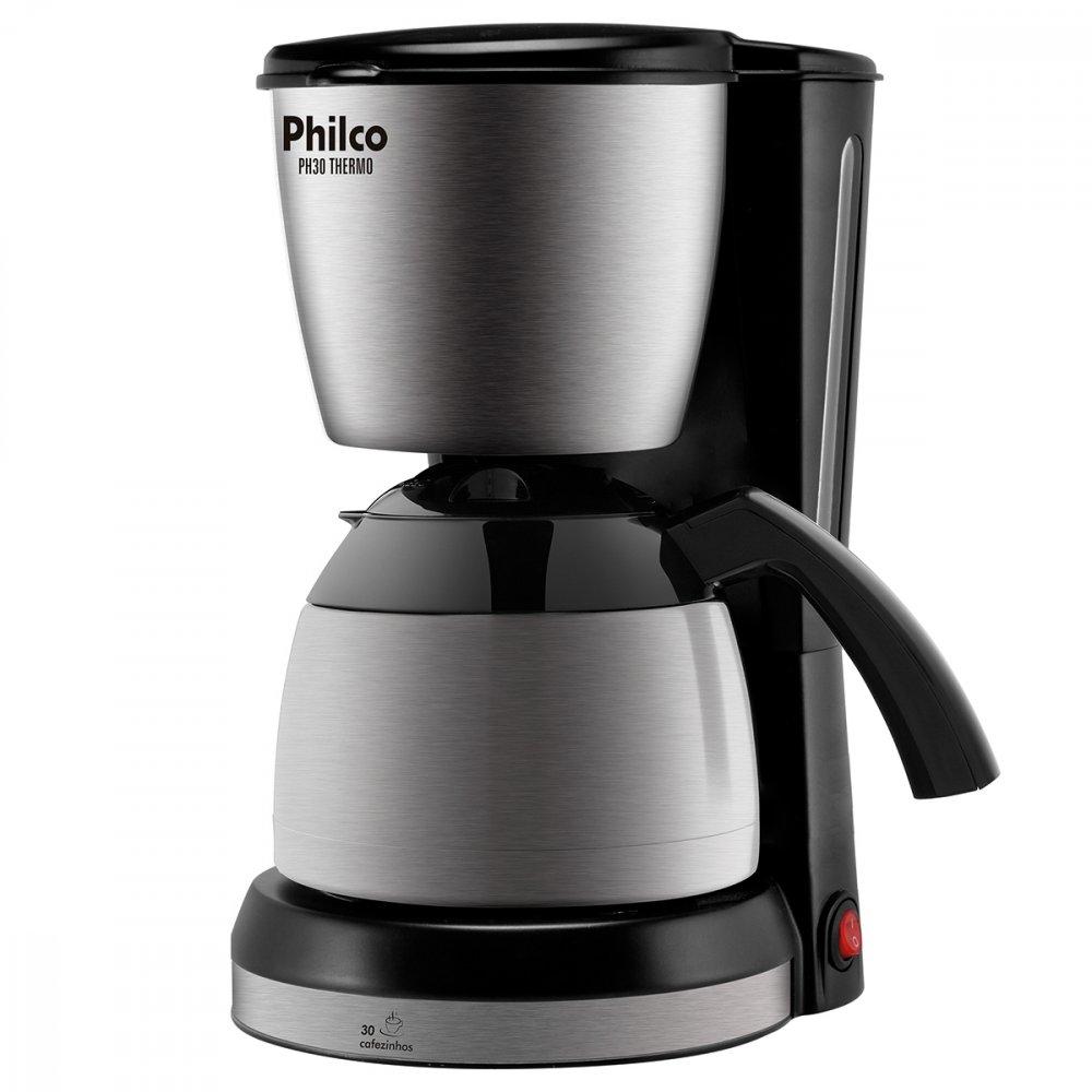 Cafeteira Elétrica PH30 Thermo Preta 110v unidade Philco  UN