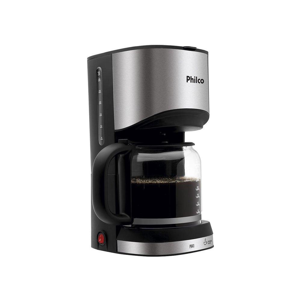 Cafeteira Elétrica PH41 Prepara 30 Xícaras Preta e Inox 220v  unidade Philco  UN