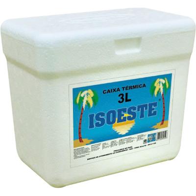 Caixa de isopor Térmica 3 Litros unidade Isoeste  UN