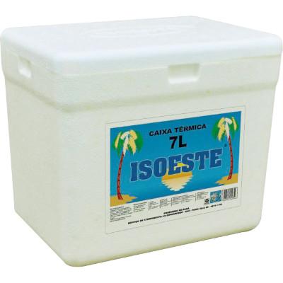 Caixa de isopor Térmica 7 Litros unidade Isoeste  UN