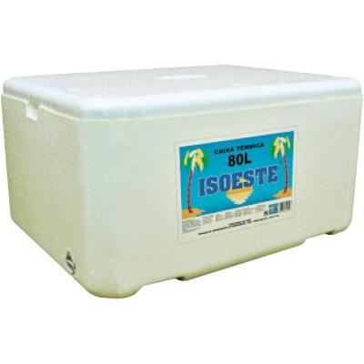 Caixa de isopor Térmica 80 Litros unidade Isoeste  UN
