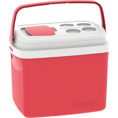 Caixa Térmica Vermelha 32 Litros unidade Soprano  UN