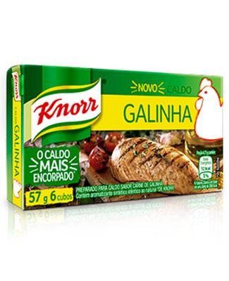 Caldo de Galinha  com 60 cubos Knorr caixa UN